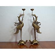 Đôi hạc thờ cao 60cm hun giả cổ thumbnail