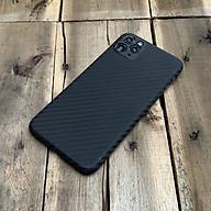 Ốp lưng siêu mỏng, vân carbon dành cho iPhone 11 Pro Max - Màu đen thumbnail