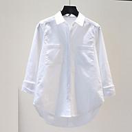 Áo sơ mi nữ cô đức form rộng chất đũi 2 túi ngực ArcticHunter, thời trang phong cách trẻ thumbnail