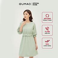 Đầm dáng xòe nữ họa tiết caro thiết kế eo bo chun GUMAC DB373 thumbnail