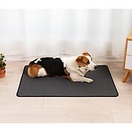 Thảm lót vệ sinh chó mèo - giặt sạch tái sử dụng - mặt dưới chống thấm [Tặng móc dán tường treo đồ] thumbnail