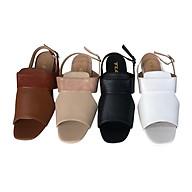 Sandal nữ, quai ngang cao cấp thời trang 21822 thumbnail
