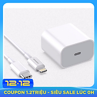 Bộ Sạc Nhanh 18W SENDEM C15 cổng USB Type C hỗ trợ PD Super Chager cho điện thoại iPhone 11, iPhone 11 Pro, iPhone 11 Pro Max, iPad, Macbook - Hàng chính hãng thumbnail
