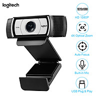 Logitech 1080P HD Computer Camera Streaming Webcam 90 Wide Viewing 4X Optical Zoom Auto Focus with Microphone USB Plug thumbnail