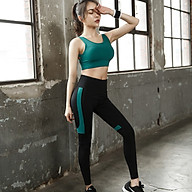 Bộ Quần Áo Tập Yoga Gym Nữ Cao Cấp, Form Chuẩn Tôn Dáng, Áo Bratop Có Mút - LUX50 thumbnail