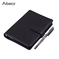Aibecy Erasable Reusable Smart Notebook Hardcover Writing Journal Loose-leaf Leather Note Book Wet Hot Erase A6 Size 50 thumbnail