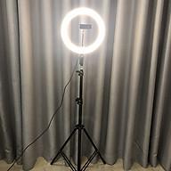 Bộ tripod, giá đỡ livestream có đèn Led 3 chế độ (26cm), kèm kẹp điện thoại - Hỗ trợ ánh sáng chụp ảnh, livestream, quay tiktok hiêu quả - Hàng chính hãng thumbnail