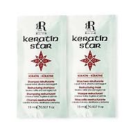 Combo 2 gói dầu gội xả phục hồi và dưỡng ẩm tóc RRline Keratin Star 30ml thumbnail