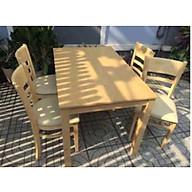 Bộ bàn ăn CB 4 ghế màu tự nhiên thumbnail