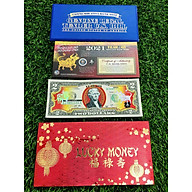 TIỀN LÌ XÌ MAY MẮN - TỜ 2 USD HÌNH CON TRÂU 2021 MẠ VÀNG MỸ thumbnail