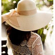 Mũ cói rộng vành thắt nơ thời trang, nón cói đi biển cao cấp thumbnail