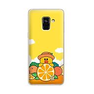Ốp lưng dẻo cho điện thoại Samsung Galaxy A8 2018 Plus - 01032 7881 SALLY03 - in hình Vịt Sally ngộ nghĩnh - Hàng Chính Hãng thumbnail