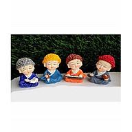 bộ chú tiểu cầm kỳ đội nón len chùa tặng kem 2 thú nhún ngỗ ngĩnh thumbnail
