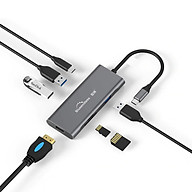 Cáp Blueendless Type C Sang HDMI 4K 1000Mbps Ethernet, 2 USB 3.0 Ports, SD TF Card Reader - Hàng Nhập Khẩu thumbnail