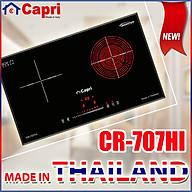 Bếp Đôi Điện Từ - Hồng Ngoại Capri CR-707HI - Hàng Nhập Khẩu Thái Lan, Sản Xuất Theo Công Nghệ Tiên Tiến Châu Âu, Tiết Kiệm Điện Và Thời Gian Nấu Tối Ưu thumbnail