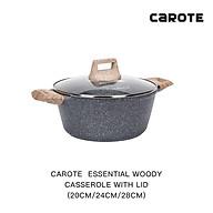 Nồi hầm đúc chống dính có nắp Carote Essential Woody 20 24 28CM Phủ chống dính đá Maifan_Không chứa PFOA_Giữ nhiệt_Phù hợp cho mọi loại bếp kể cả bếp từ thumbnail