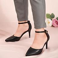 Sandal tiểu thư gót 7cm quai hậu cách điệu xinh xắn V017113 thumbnail
