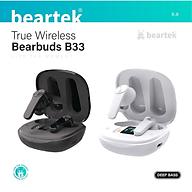 Tai nghe bluetooth không dây Beartek Bearbuds B33 True Wireless màn hình LED thông minh, có định vị, chạm cảm ứng, cửa sổ kết nối Hàng chính hãng thumbnail