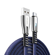 Dây cáp sạc type c sạc nhanh hiệu ROCK M2 RCB-0777 hỗ trợ truyền data tốc độ cao 480 Mbps công nghệ SR chống đứt gẫy, trang bị đèn LED báo sạc K55 - hàng nhập khẩu thumbnail