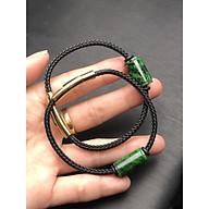 Vòng tay lu thống đá ngọc sơn thuỷ dây lõi thép 3 mm thumbnail