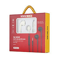 Tai nghe nhét tai có dây VivuMax J15 - Jack cắm 3.5mm, có Mic Microphone - Hàng Chính Hãng thumbnail