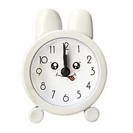 Đồng hồ báo thức để bàn mini tai thỏ cute thumbnail
