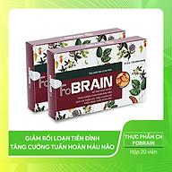 Thực phẩm chức năng - Viên uống FoBRAIN, hỗ trợ giảm rối loạn tiền đình, Tăng Cường tuần hoàn mãu não thumbnail