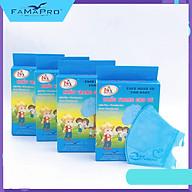 [[ Xuất Khẩu Mỹ ]] - Combo 4 Hộp - Khẩu Trang Y Tế Cao Cấp Famapro Trẻ Em - 3 Lớp 5D Baby Trơn (10 Cái Hộp) - BFE, VFE, PFE 99% Lọc Khuẩn, Bụi, Virus Tốt Nhất thumbnail