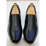 Giày lười tây nam da bò siêu mềm màu đen trơn GMN1033 thumbnail