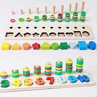 Bảng chữ số và hình học cho bé đồ chơi học tập, bảng ghép hình bằng gỗ thuộc giáo cụ Montessori giúp phát triển trí tuệ và kỹ năng cho trẻ thumbnail