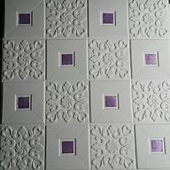 10 tấm xốp dán tường giả da điểm màu tím thumbnail
