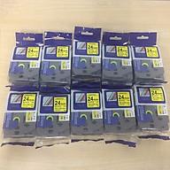 Combo 10 cuộn nhãn in TZ2-651 tiêu chuẩn - Chữ đen trên nền vàng 24mm - Hàng nhập khẩu thumbnail