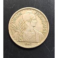Đồng Xu Cổ Đông Dương 1 Piastres Năm 1947 - Đồng Xu Thật Shop Chụp thumbnail