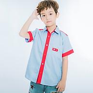 Áo Sơ Mi Tay Ngắn Bé Trai V.T.A.Kids 18122062 - Xanh Da thumbnail