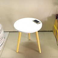 Bàn trà, bàn sofa tròn trắng 40x50, bàn cafe phòng khách, bàn coffee, bàn gỗ cà phê thumbnail