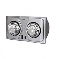 Đèn sưởi nhà tắm 2 bóng Hans H2B - Hàng chính hãng thumbnail