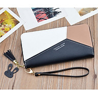 Women s PU Leather Zip Around Wallet Clutch Large Travel Purse Wristlet Card Holder Organizer thumbnail