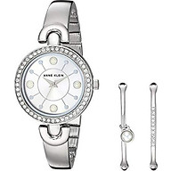 Anne Klein Women s AK 3288GBST Swarovski Crystal Accented Gold-Tone Watch and Bangle Set thumbnail