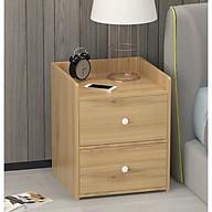 Tủ kệ gỗ đầu giường 2 ngăn kéo Tiện Dụng màu vân gỗ, Kệ gỗ phòng ngủ cao cấp, Tủ để đầu giường 2 ngăn gỗ vân đa năng tiện ích thumbnail