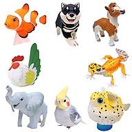 Mô hình giấy cắt dán thủ công Động vật cute Combo 0006 thumbnail