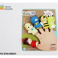 Đồ chơi Rối ngón tay chơi ú òa với bé - Toyshouse - chất liệu cao su mềm - BPA free thumbnail