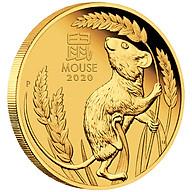 Xu Hình Con Chuột Úc Màu vàng có đường kính 40mm và được thiết kế rãnh răng cưa chắc chắn và tinh xảo - Tặng kèm hộp đựng xu bằng nhung Cao Cấp - Quà tặng Chúc Mừng Năm Canh Tý 2020 - TMT Collection - MS 269 thumbnail