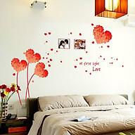 Decal Dán Tường Trái Tim Đỏ Binbin PK116 (125 x 96 cm) thumbnail