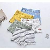 Set 5 quần lót đùi cho bé trai (hàng 100% coton ) hình tàu buồm thumbnail