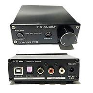 FX-Audio DAC-X3 Pro Bộ Giải Mã Khuếch Đại Âm Thanh 24BIT 192Khz Cổng Coaxial - USB PC - Optical - Kèm Nguồn - Hàng Chính Hãng thumbnail