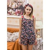 Đồ mặc nhà Bộ ngắn nữ sát nách Tvm Luxury Homewear B537 thumbnail