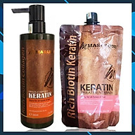 Bộ phục hồi tóc hư tổn tại nhà MASARONI Collagen Keratin cao cấp của Canada 500ml thumbnail