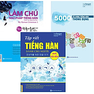 Combo Những Cuốn Sách Cần Thiết Cho Người Mới Học Tiếng Hàn ( Làm Chủ Ngữ Pháp Tiếng Hàn Dành Cho Người Mới Bắt Đầu + 5000 Từ Vựng Tiếng Hàn Thông Dụng + Tập Viết Tiếng Hàn Dành Cho Người Mới Bắt Đầu ) tặng kèm Bookmark TH thumbnail