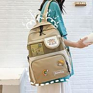 Balo Nữ Đi Học Laptop Chống Nước thời trang ulzzang cặp sách đi học Sinh viên học sinh thumbnail