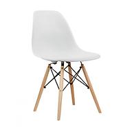 Ghế nhựa thiết kế Vintage chân gỗ GXG015 (trắng) thumbnail